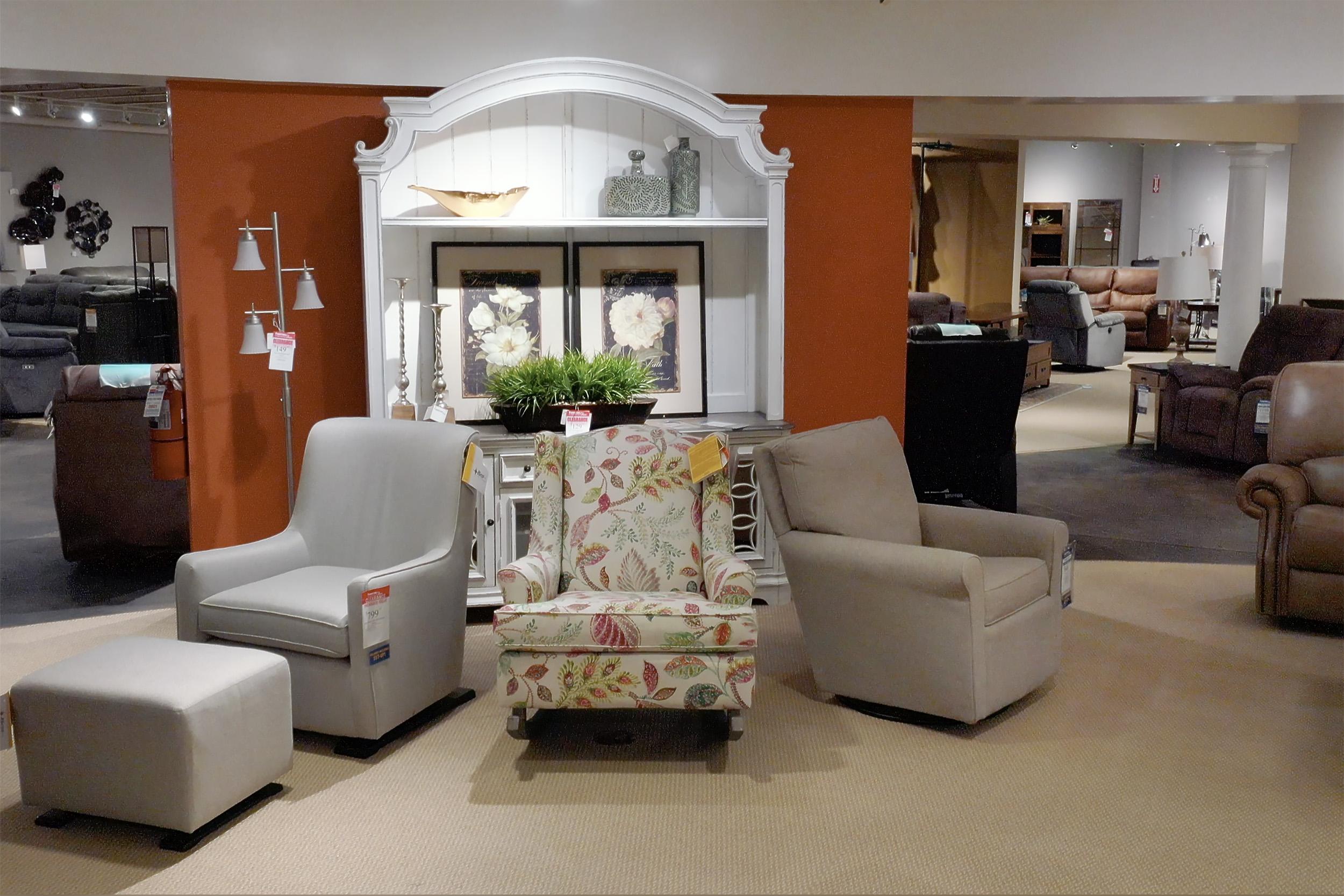 Interior Drone shot of Furniture Store