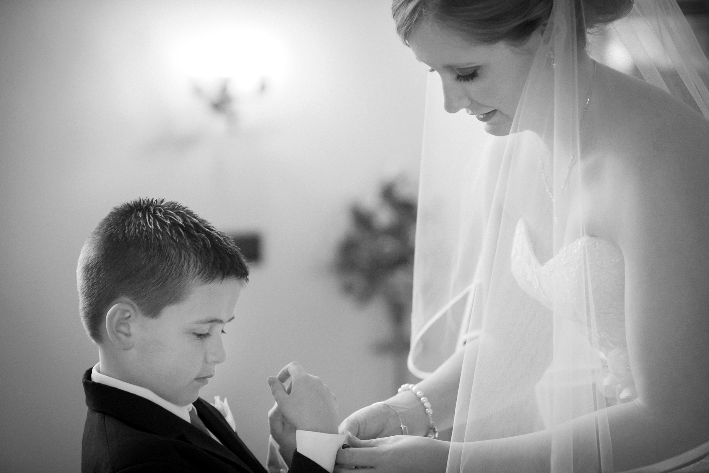 Image of bride and boy